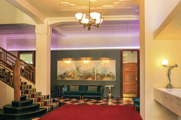Art Deco Masonic Hotel Foyer
